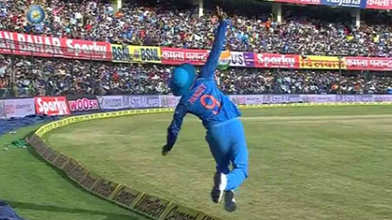 India vs Australia 3rd ODI: Watch Manish Pandey pull off stunning catch to dismiss Peter Handscomb