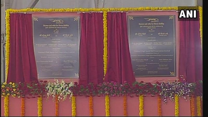 Narendra Modi, Shinzo Abe lay foundation stone of Ahmedabad-Mumbai bullet train project