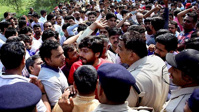 Ryan School Murder Case: Parents protesting subjected to a mild lathi charge