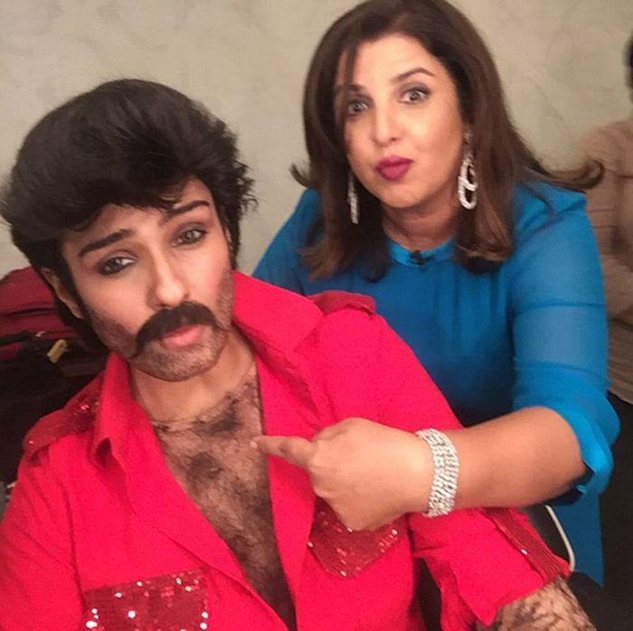 OMG! Raveena Tandon transforms into Anil Kapoor for Farah Khan's Lip Sing Battle and it's amazing!