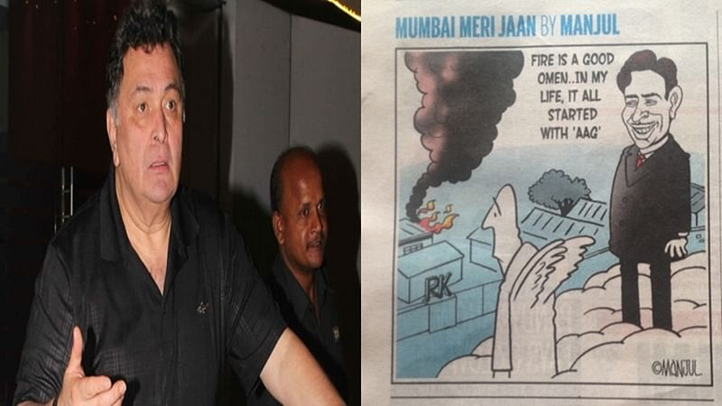 RK studio fire: Rishi Kapoor objects to cartoon with 'sick humour' on tragic incident