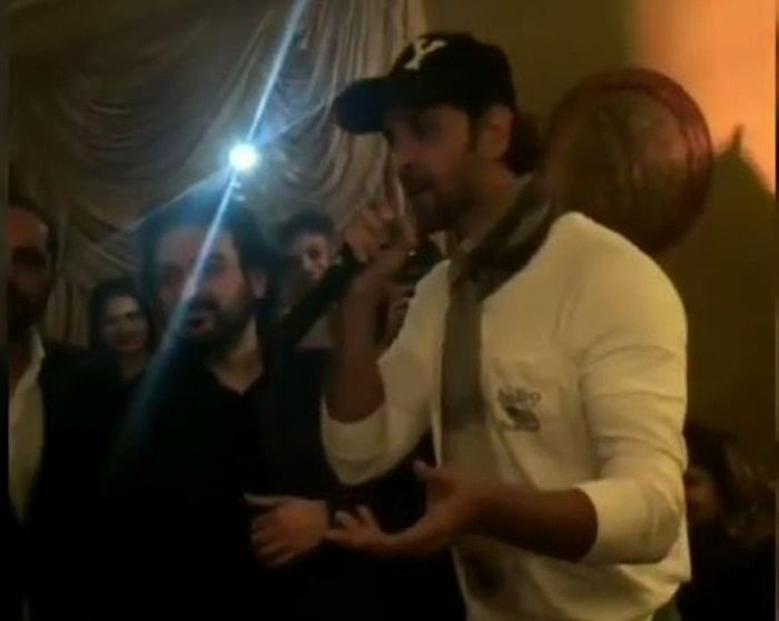 This video of Hrithik Roshan singing for Rakesh Roshan on his birthday is worth watching