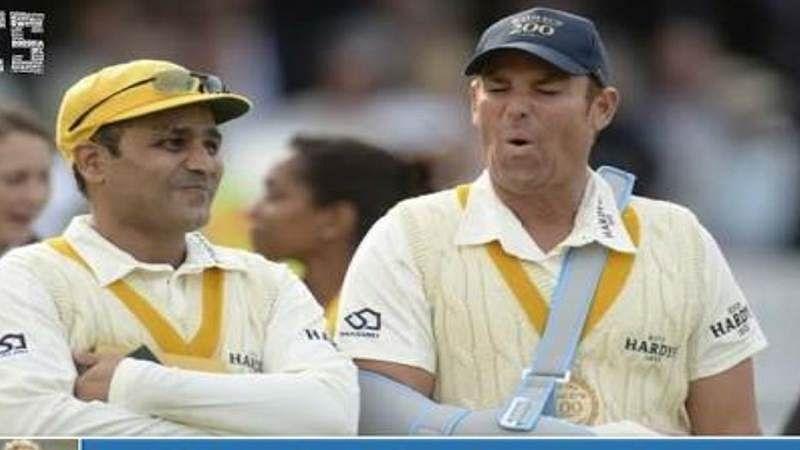 Sehwag's amusing birthday tweet on Warne: 'Batsmen always wished your hands were plastered'