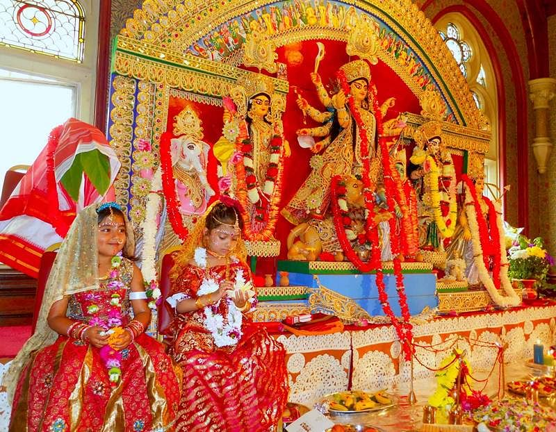 Kumari Puja, during Durga Ashtami, is worshipping of young girls as the Divine Mother