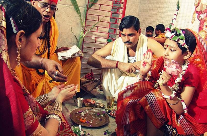 Kumari Puja is one of the key rituals followed during Durga Puja