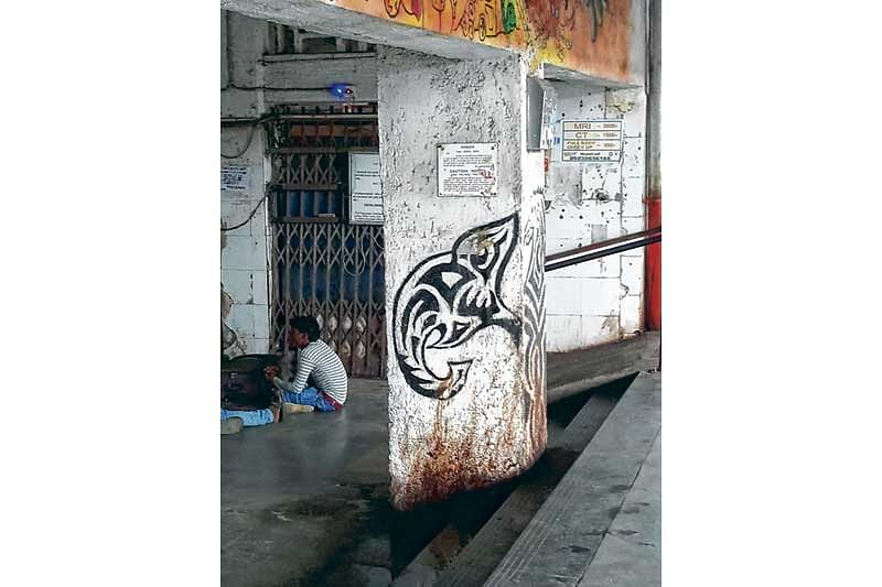 Mumbai: Graffiti with social messages on railway station's wall become site for spitters