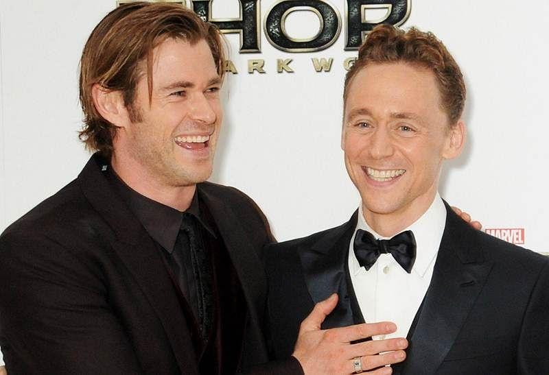 Chris Hemsworth makes Tom Hiddleston laugh