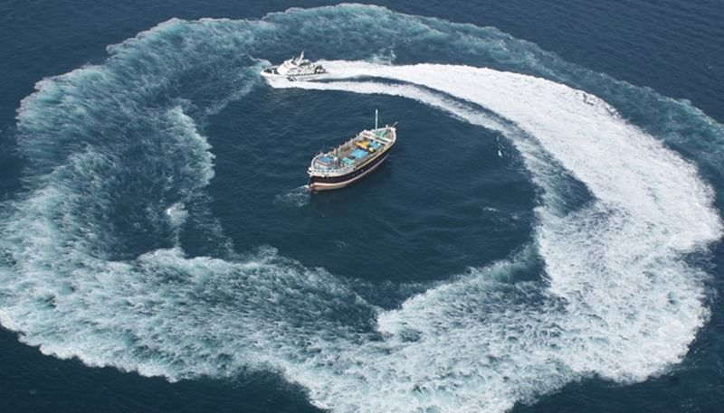 Coast guard ship rescued fishing boat Seagull with 14 crew members stranded in sea near Mumbai