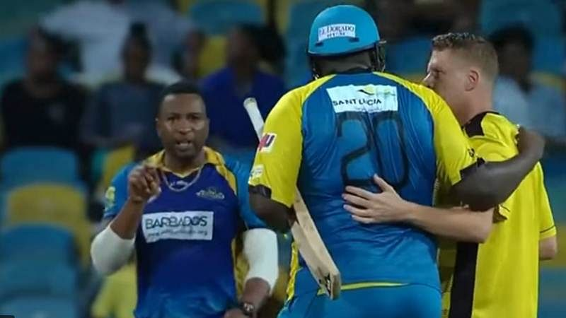 CPL 2017: Kieron Pollard loses cool, ends up fighting with Rahkeem Cornwall; watch video