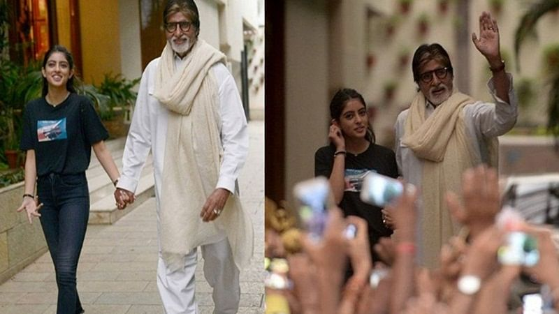 Adorable Pic! Watch Amitabh Bachchan and Navya Nanda Naveli taking a stroll