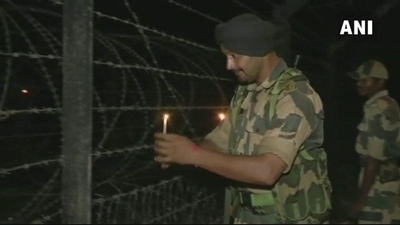 Silliguri: BSF jawans celebrate Diwali at India-Bangladesh border