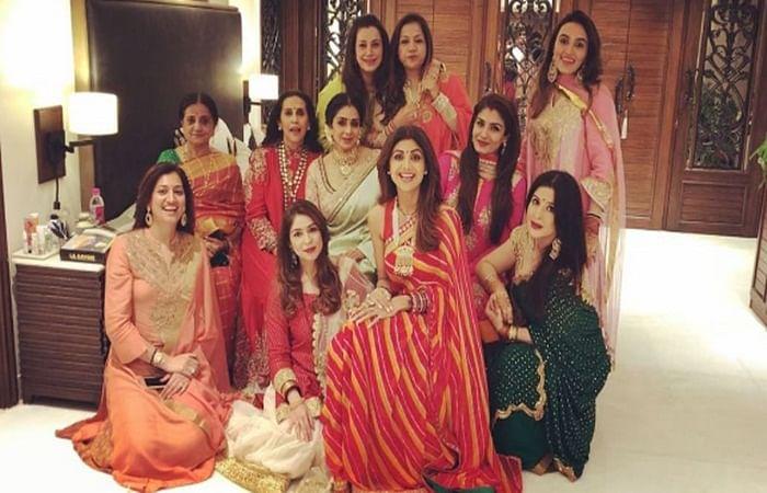 Karwa Chauth 2017 pictures: Sridevi, Raveena Tandon, Shilpa Shetty celebrate Karwa Chauth