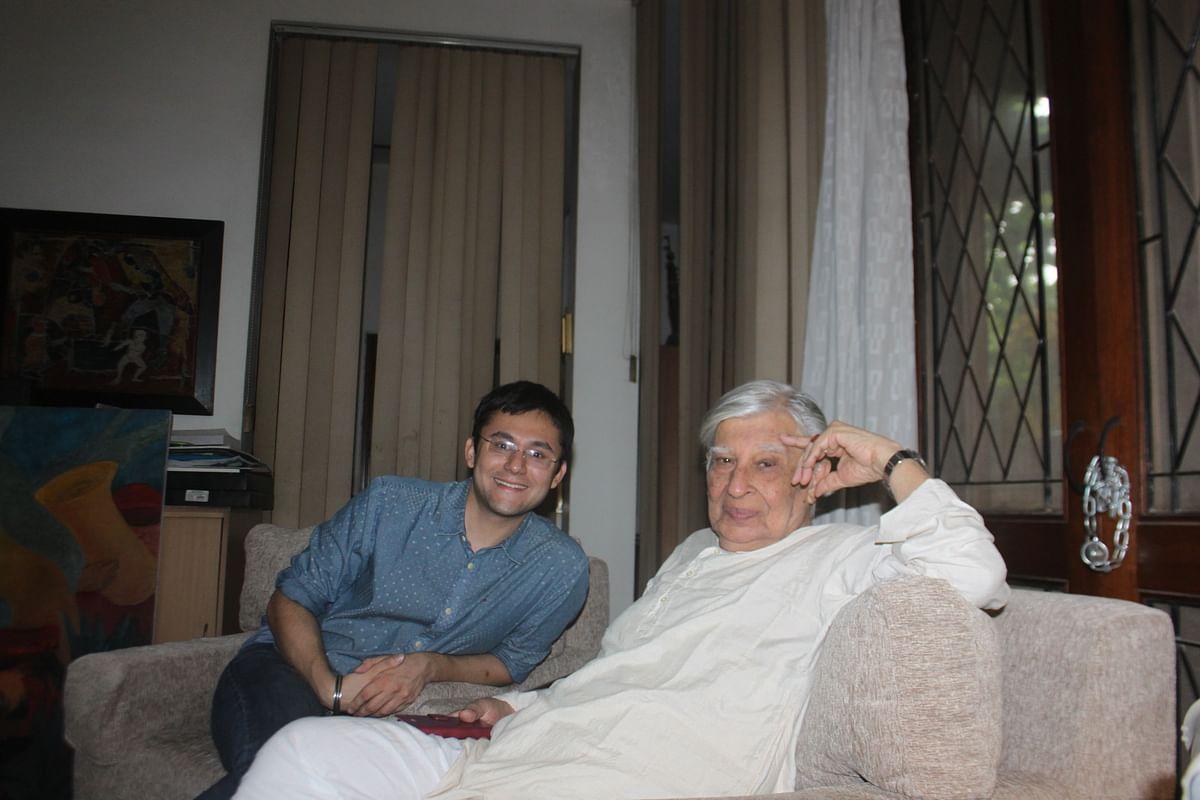 Krishen Khanna with Author