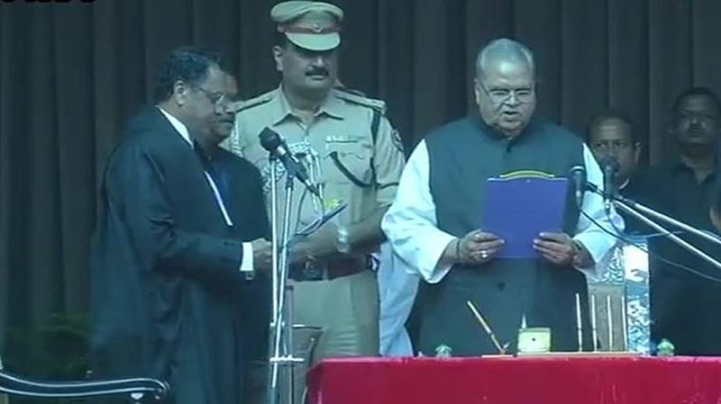 Satya Pal Malik sworn in as Bihar Governor at the Raj Bhavan