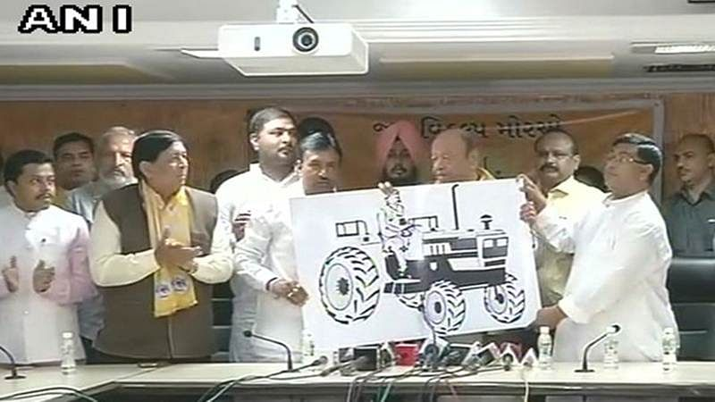 Gujarat Assembly elections 2017: Shankersinh Vaghela unveils party symbol for Jan Vikalp Morcha