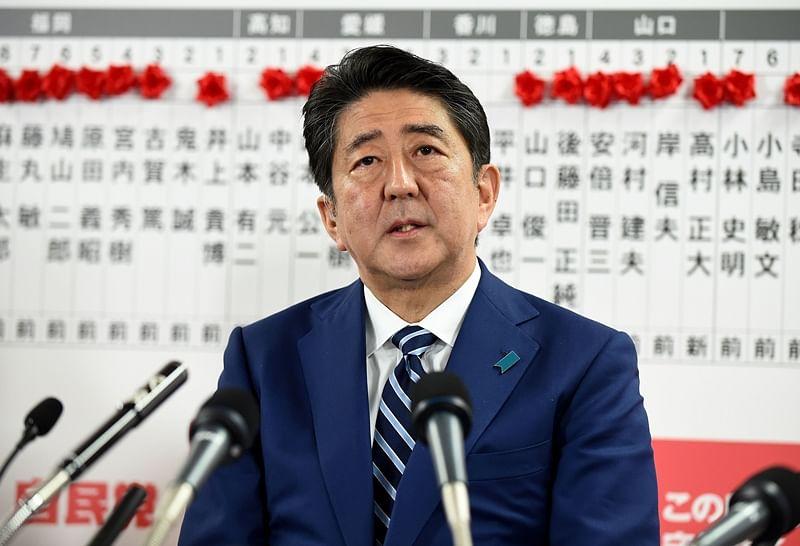 Japanese PM Shinzo Abe promises firm stance on North Korea