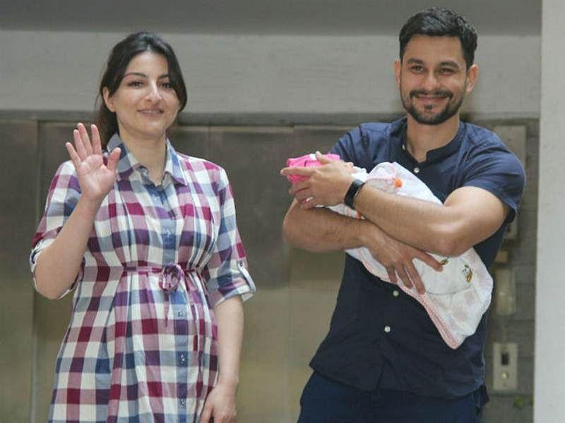 See pictures! Soha Ali Khan, Kunal Kemmu bring baby Inaaya home