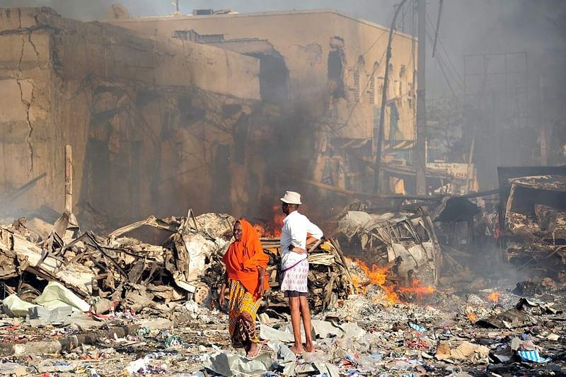 Somalia blast kills over 16 near presidential palace