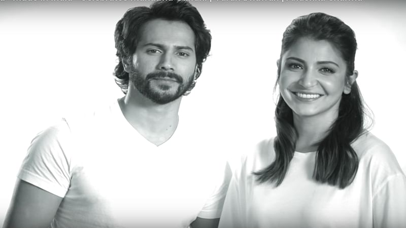 Varun Dhawan and Anushka Sharma celebrate Gandhi Jayanti with a special video of 'Sui Dhaaga – Made In India'