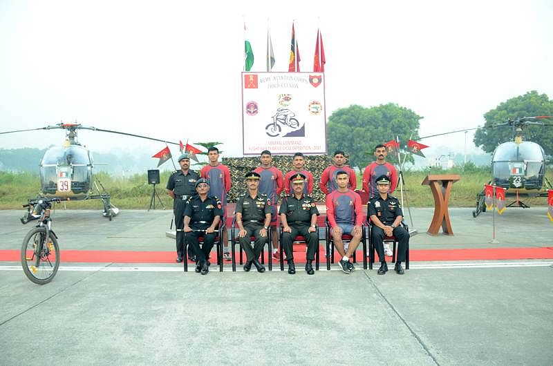 Cycle rally by Indian Army generates awareness about flight safety