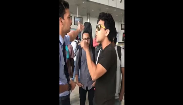 Watch Video: Aditya Narayan throws a tantrum at Raipur airport; abuses staff