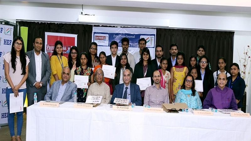 Winners of FPJ and HEF Scholarship Awards along with dignitaries related to the field of education