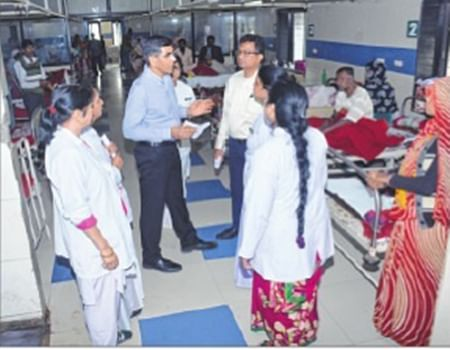 Indore: ACS skips fire-torn NICU during MYH visit