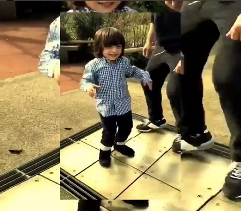 Watch! Cute AbRam's happy dance with papa Shah Rukh Khan