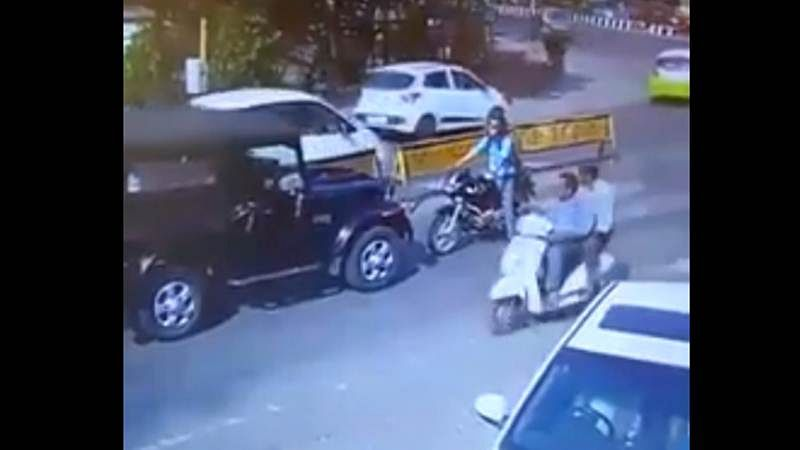 Viral Video: Biker beaten up unabashedly for confronting traffic-rule violator in Indore