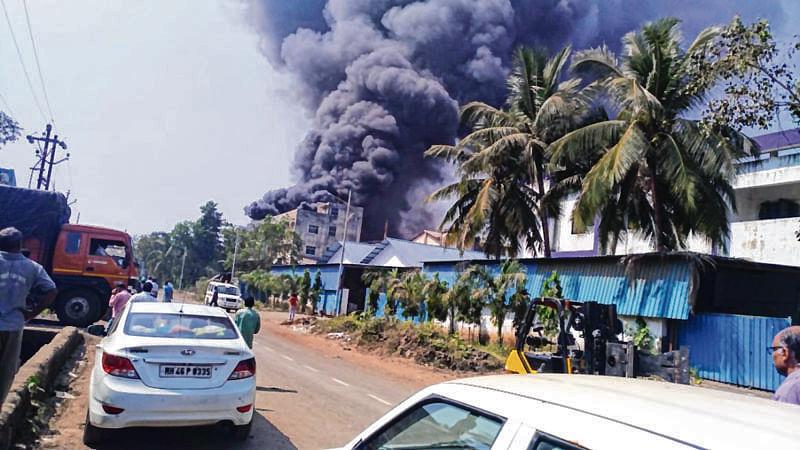 Major fire at mattress foam factory in Navi Mumbai