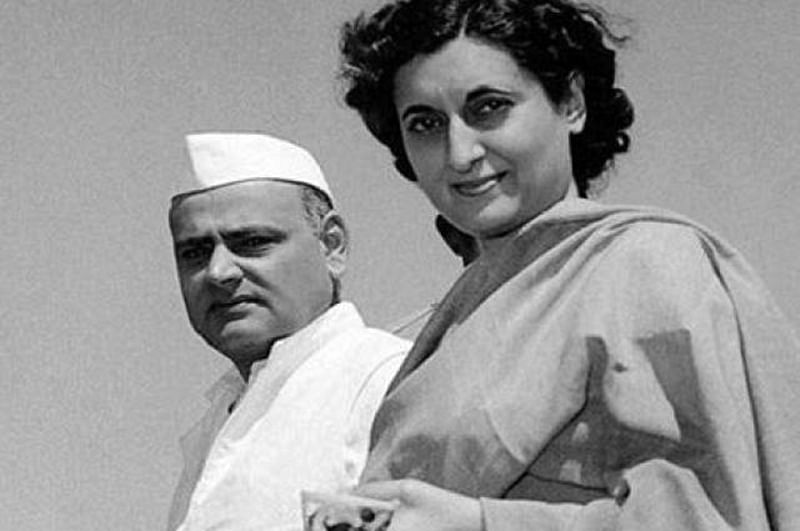 Indira Gandhi with husband Feroze Gandhi