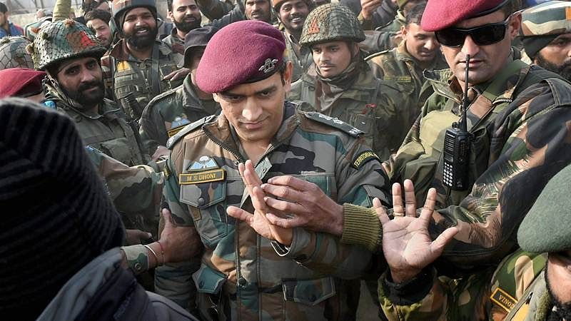 MS Dhoni receives Padma Bhushan award on the day India lifted world cup in 2011