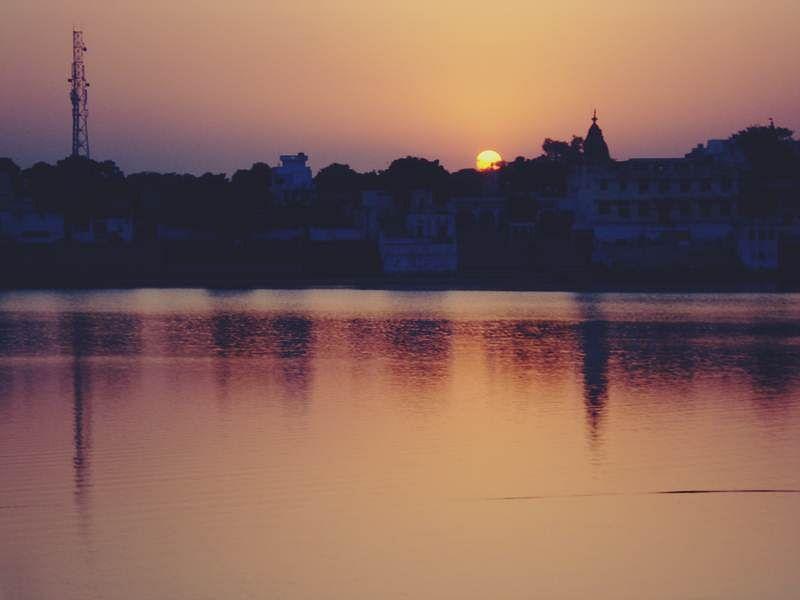 Sunset, Pushkar Lake