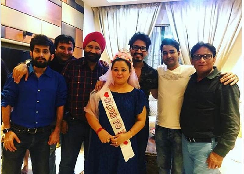 Bharti Singh's bridal shower pictures are out; beau Haarsh Limbachiyaa gives her company; see happy pics