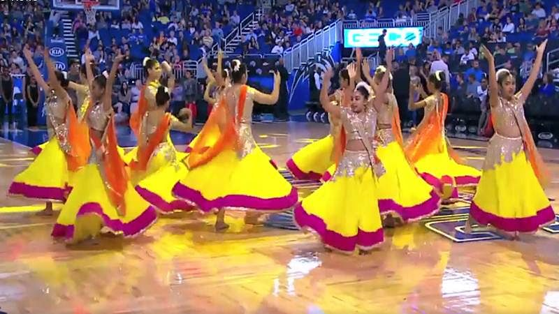 Viral Video! Dancers perform on Baahubali song at NBA basketball game in Orlando