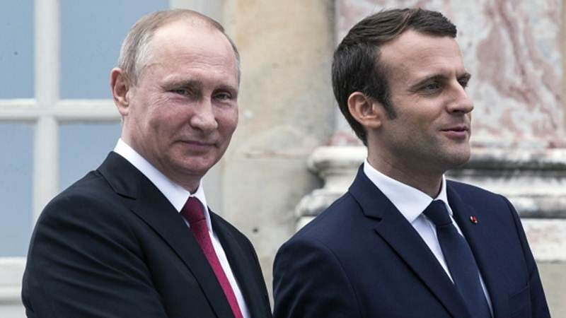 FIFA World Cup 2018: Vladimir Putin congratulates French President Emmanuel Macron on semi-final win