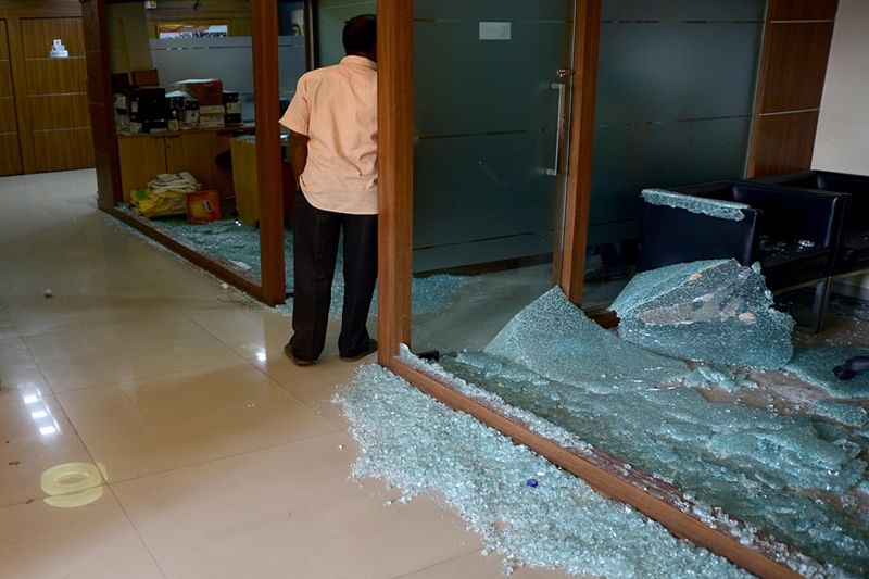 Mumbai: MNS workers arrested for vandalising Congress office near Azad Maidan
