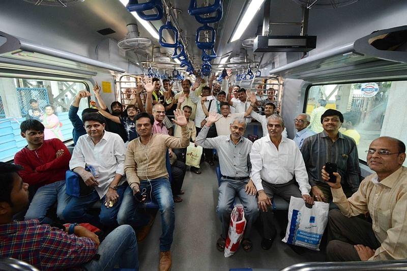 Mumbai gets it first AC local train, commuters elated