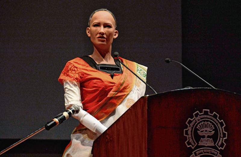 Humanoid Robot 'Sophia' gives rise to query if robots can replace humans