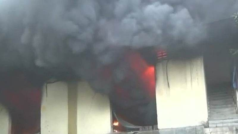 Seven scrap godowns gutted in fire, no casualty