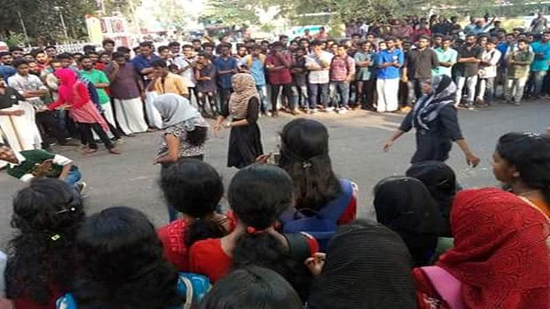 Hijab-clad students shamed online in Kerala: Student federation members hold impromptu dance performances across state