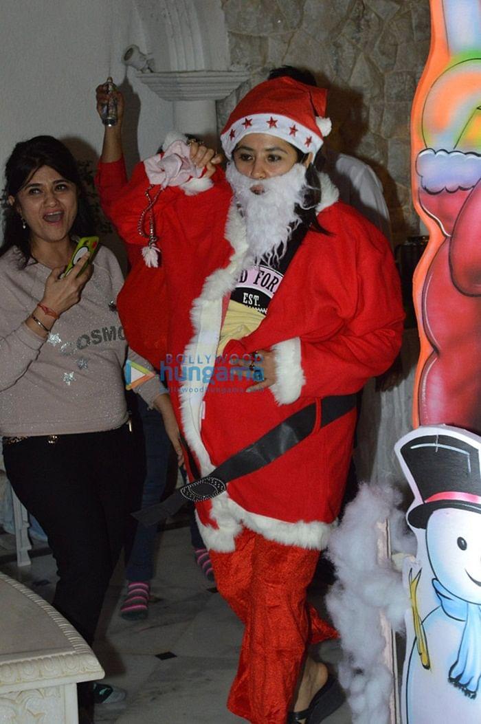 Inside Photos: Ekta Kapoor becomes Santa Claus for Laksshya, Roohi and Yash