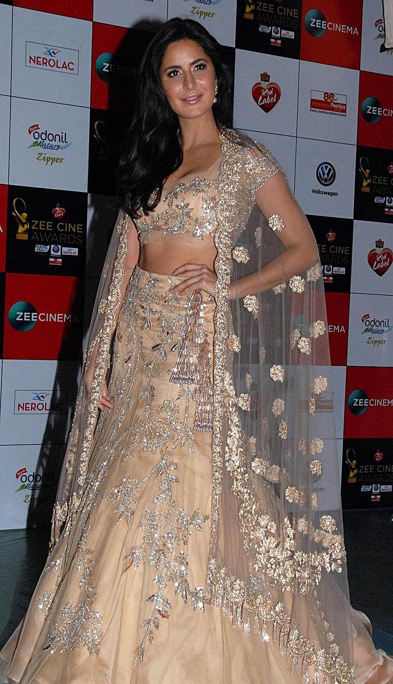 Katrina Kaif attends the 'Zee Cine Awards 2018' ceremony in Mumbai on December 19, 2017. / AFP PHOTO / Sujit Jaiswal