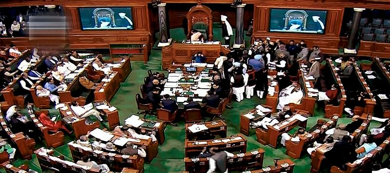 Congress protests in Lok Sabha; government says its conduct is shameful