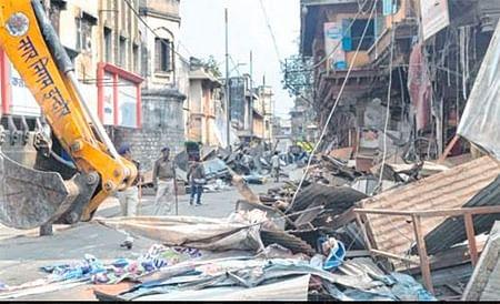 Indore: 150 shops razed around Gopal Mandir, Rajwada to make way for Smart city