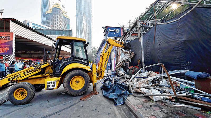 MBMC razes illegal structures on CRZ land