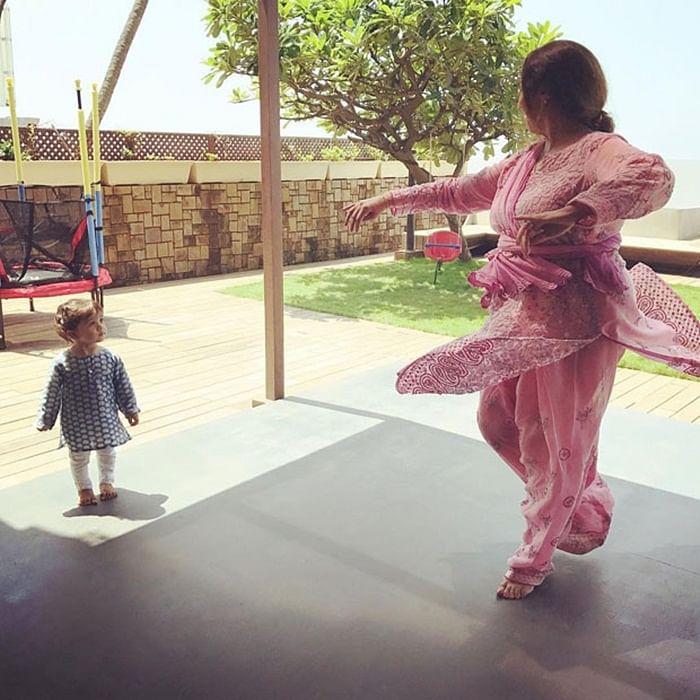 ADORABLE: Misha Kapoor takes dance lessons from grandmother Neelima Azeem