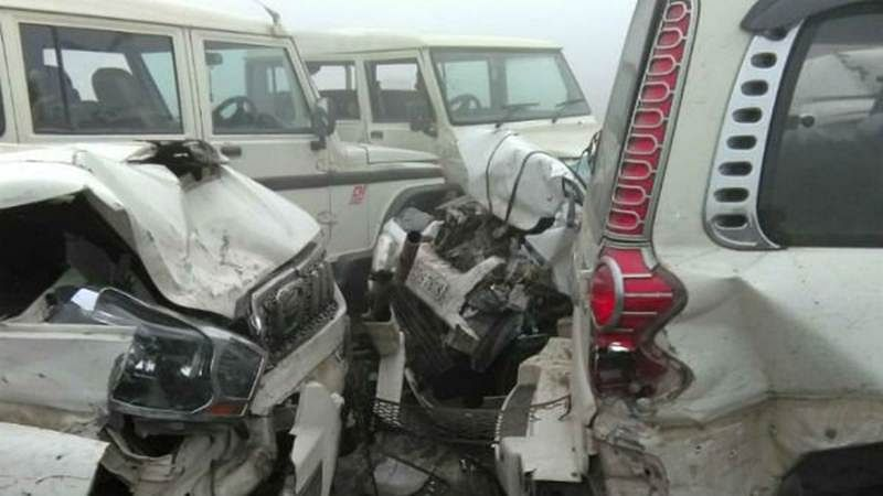 UP: 10 cars collide on Lucknow-Agra Expressway due to dense fog; over dozen injured