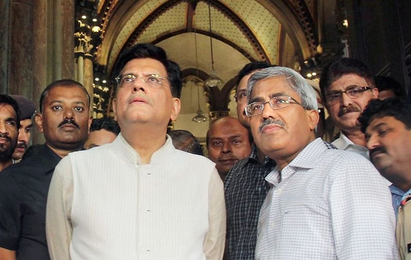 (L) Commerce and Industry Minister  Piyush Goyal