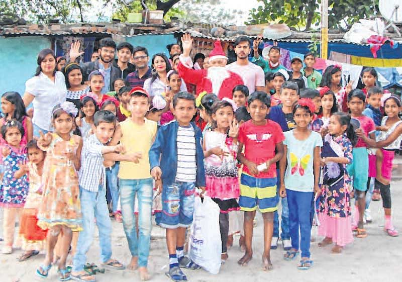 Indore: Create Stories plays Santa for poor kids on Christmas eve